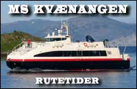 Rutetider for MS Kvænangen!